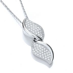 J-Jaz Micro Pave' Fancy Pendant Cz with 18